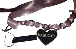 bebe New with tag Bebe pink ribbon bow rhinestone heart bracelet