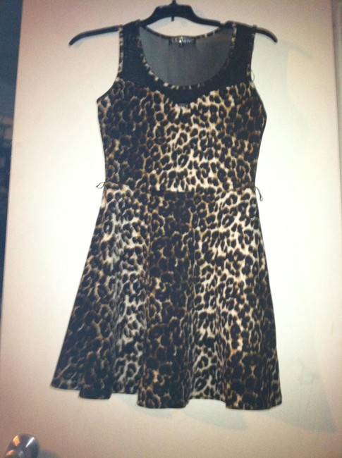 Almost Famous Clothing short dress Animal print on Tradesy