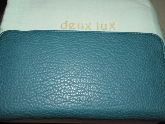 "deux lux Deux Lux TEAL ""Heidi Girl"" Bow Zip Around Wallet Brand New with Tags"