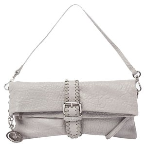 Charles Jourdan Pebbled Leather Whipstitch Shoulder Bag