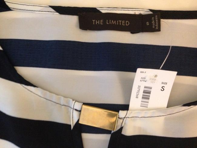 The Limited Top Blue / White