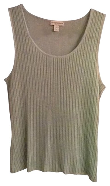 Preload https://item1.tradesy.com/images/emporio-armani-light-green-rayon-with-pinstripes-tank-topcami-size-8-m-121460-0-0.jpg?width=400&height=650