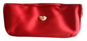 Avon Fashions Beautiful Silver Puffed Heart Cosmetic Bag
