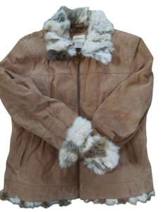 St. John Bay Suede Fur Fur Coat
