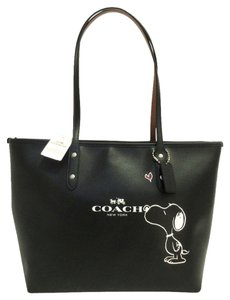 Coach 36126 Canvas Brown F36126 City 35355 F35355 Cranberry Light Gold Tote in Black