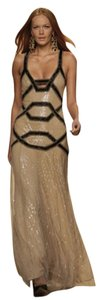 Jenny Packham Crisscross Strap Sequin Beaded Studded Dress