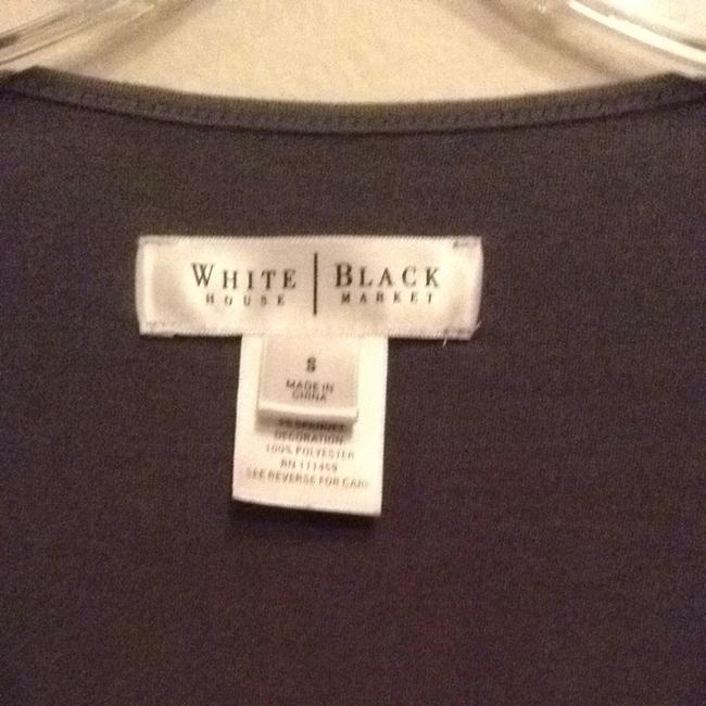 White House | Black Market Nice Bodice Top gray with black beading