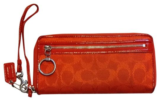 Coach Wristlet in Orange