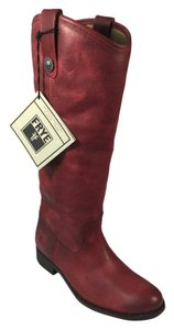 Frye Melissa Button Red Boots