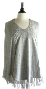 BCBGMAXAZRIA Alpaca Taupe Cable Knitted Cape
