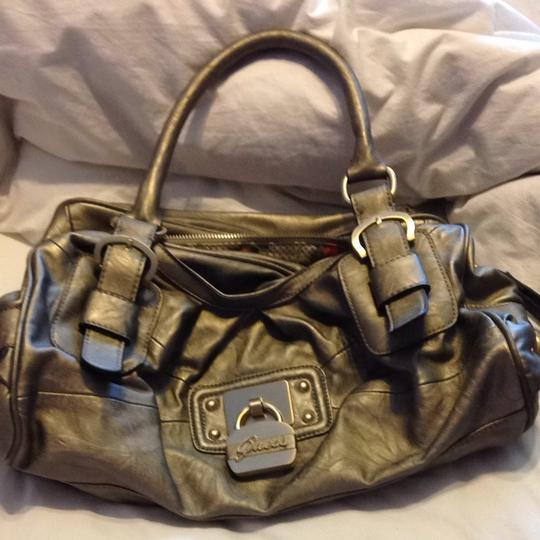 Guess Satchel in Silver And Gold
