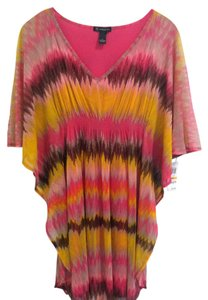 INC International Concepts short dress Yellow Pink on Tradesy