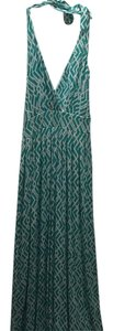 White / Aqua Maxi Dress by Tart