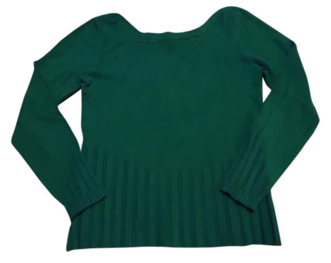 Item - Ribbed Detail Soft ~ Nicely Made Aqua Teal Sweater