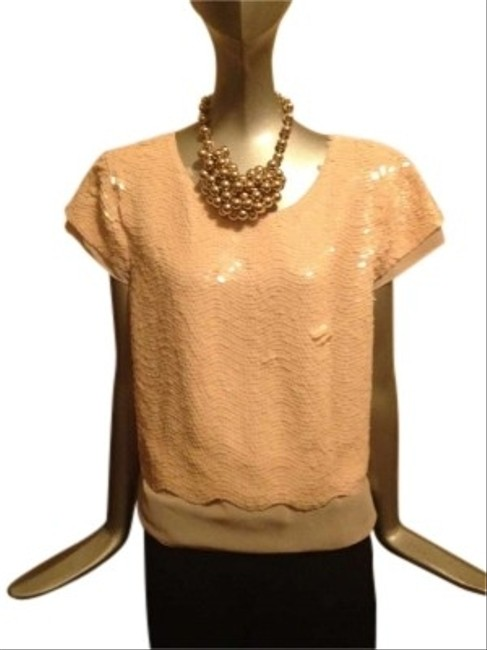 Preload https://item2.tradesy.com/images/bcbgmaxazria-light-pink-bcbg-max-azria-beaded-sequin-with-sheer-accents-blouse-size-8-m-121531-0-0.jpg?width=400&height=650