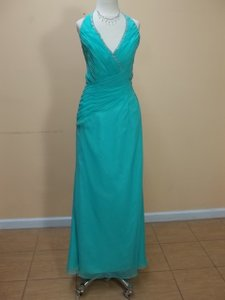 Impression Bridal Sea Mist Chiffon 1663 Formal Bridesmaid/Mob Dress Size 10 (M)