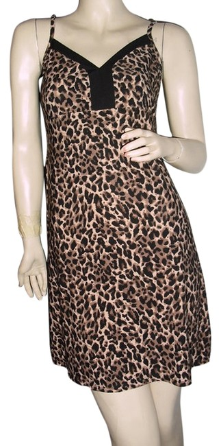 Item - Brown Black Cheetah Leopard Print Cami For Layering @ Fashionista Style Boutique Knee Length Short Casual Dress Size 12 (L)