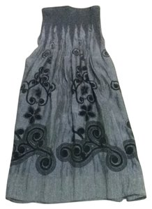 Lapis short dress silver with black detailing on Tradesy