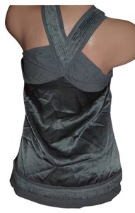 Juicy Couture Silk Crisscross Strap Top Gray