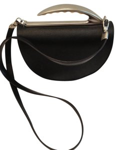 Ivan Cipriani Brushed Silver Leather Baguette