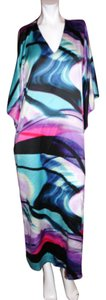 Multi Maxi Dress by Natori Lounge Gown Maxi