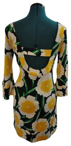Diane von Furstenberg Scoop Back Shift Floral Dress