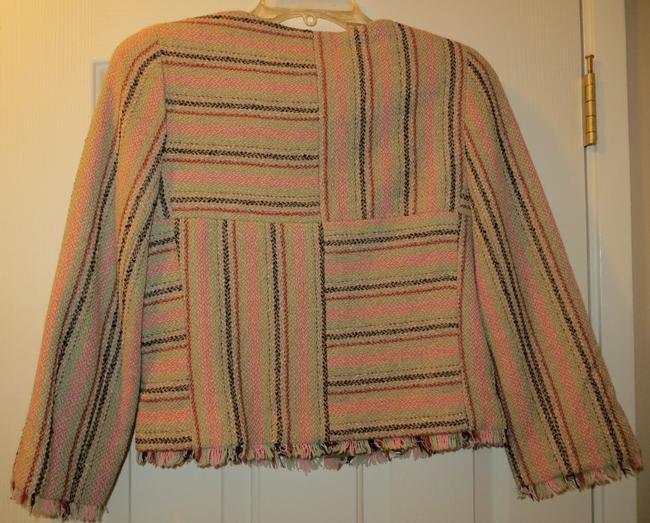 Chanel Boucle Tweed Made In France Classic Multi-color Blazer Image 5