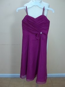 Impression Bridal Violet 1685 Junior Bridesmaid Size 10 Dress