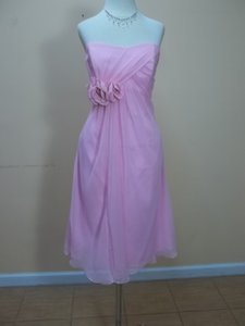 Impression Bridal Pink Chiffon 20003 Formal Bridesmaid/Mob Dress Size 10 (M)