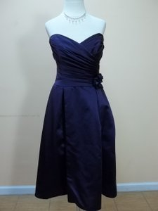 Impression Bridal Eggplant Satin 20031 Formal Bridesmaid/Mob Dress Size 12 (L)