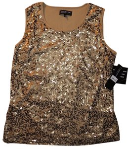 Jones New York Park Avenue Sleeveless Top Gold