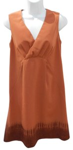 Simply Vera Vera Wang short dress Burnt Orange/Brown on Tradesy