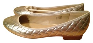 Modern Vice Leather Quilted SILVER METALLIC Flats