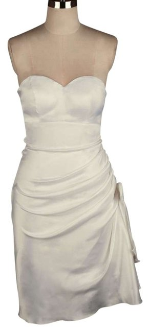 Preload https://item1.tradesy.com/images/ivory-strapless-bunched-bow-satin-knee-length-formal-dress-size-14-l-121600-0-0.jpg?width=400&height=650