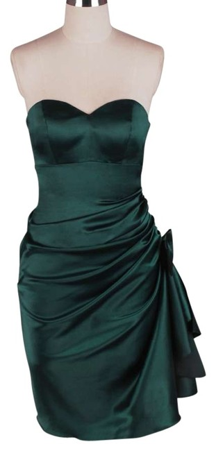 Preload https://img-static.tradesy.com/item/121606/green-strapless-bunched-bow-satin-above-knee-cocktail-dress-size-16-xl-plus-0x-0-0-650-650.jpg