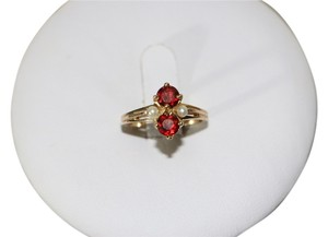 Other 14K YELLOW GOLD RING WITH RED STONE