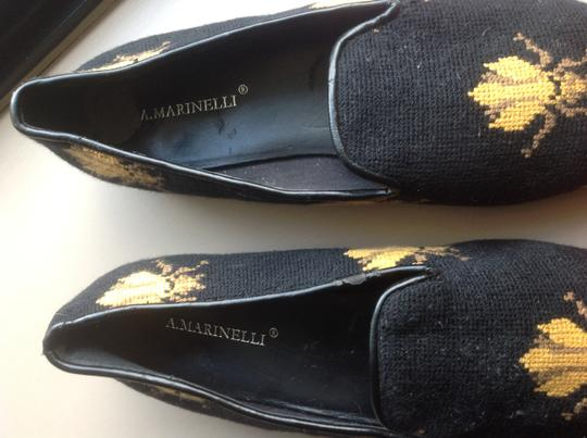 A martinelli Woven Bee Design Black Flats Image 2