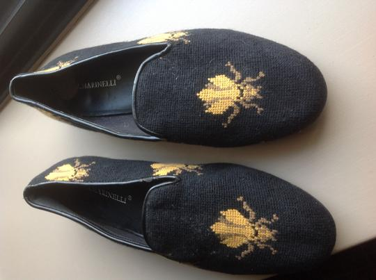 A martinelli Woven Bee Design Black Flats Image 4