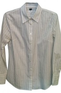 J.Crew Button Down Shirt white w black pin stripe