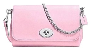 Coach 34604 Crossbody Petal Turn Lock Petal Pink Clutch