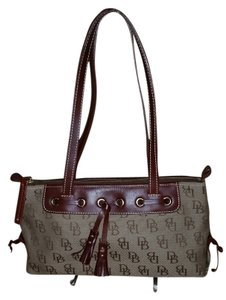 Dooney & Bourke And Tassels Leather Pockets Shoulder Bag