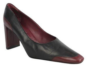 Robert Clergerie Leather Black/burgundy Pumps