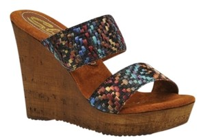 Sbicca Multi Color Wedges
