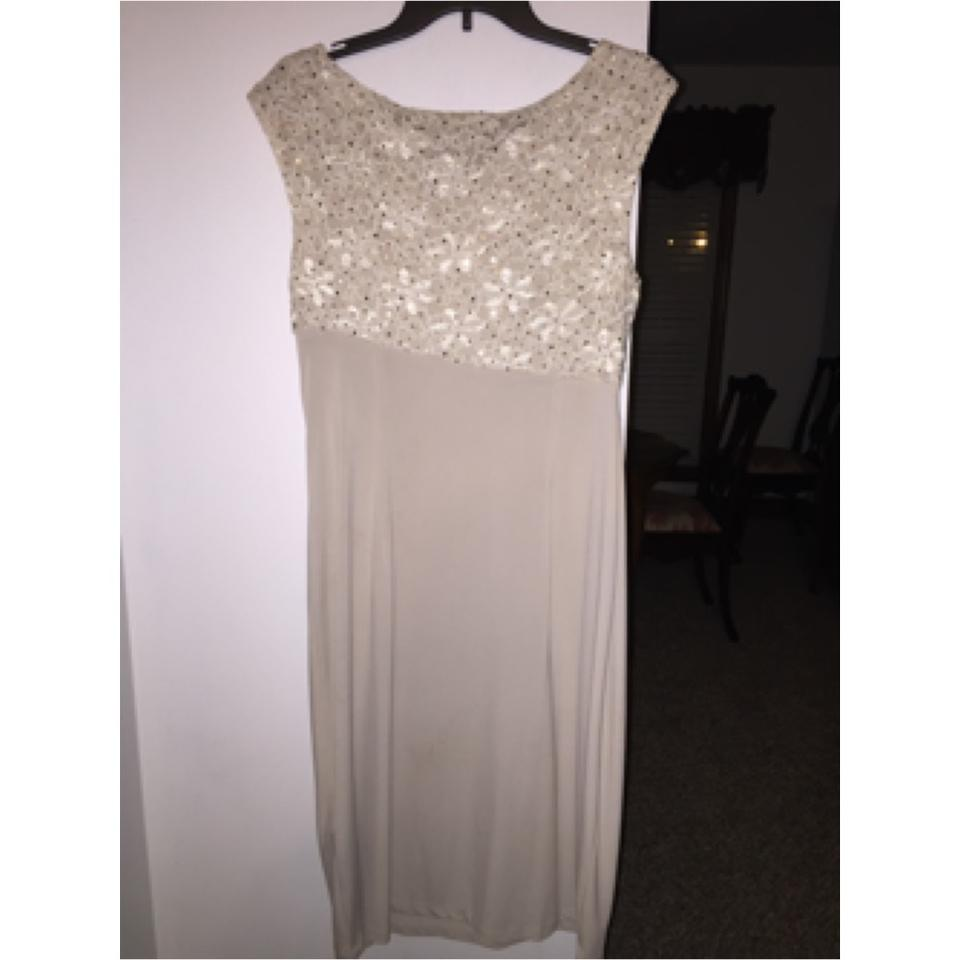b2420bfeadc8 Connected Apparel Cream Mid-length Formal Dress Size 16 (XL