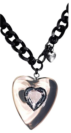 Betsey Johnson Betsey Johnson Crystal Huge Heart Vtg Necklace