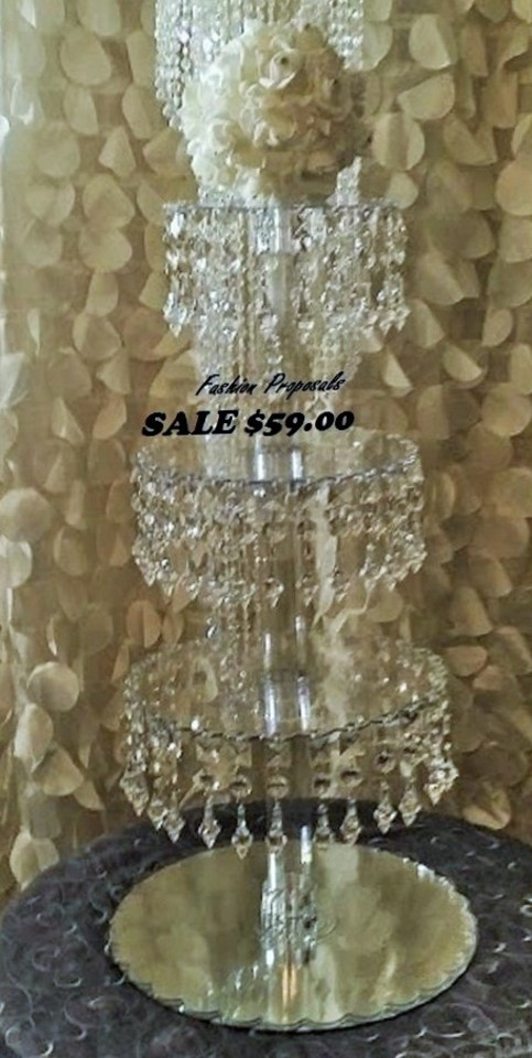 Crystal Clear Cupcake Tower Acrylic Cupcake Stand Hanging Cupcake - Cupcake chandelier stand crystals