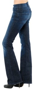 7 For All Mankind Size 27 98% Cotton 2% Spandex Made In U.s.a. Boot Cut Pants Dark Blue