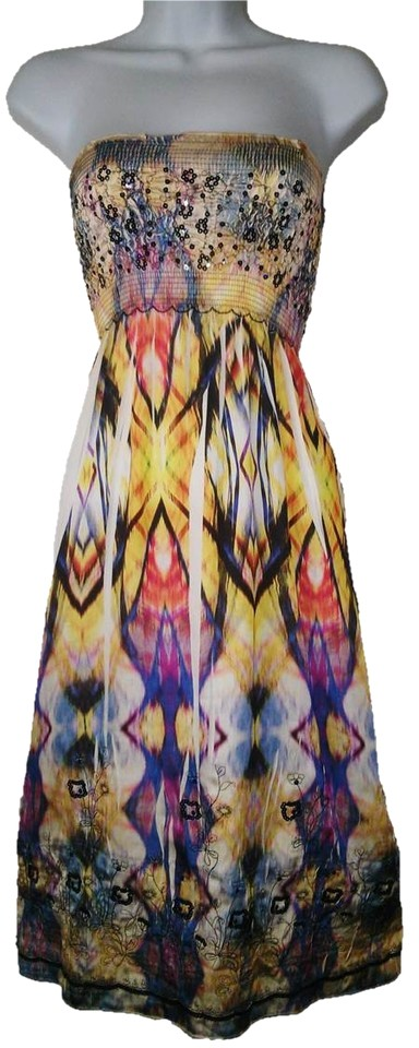 ee0d9ce0eb5b Anthropologie Multi-color Lapis Womens Convertible M L Tube Top Mid ...