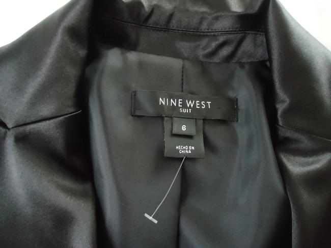 Nine West Simply Stunning Detailed 2 pc black satin suit
