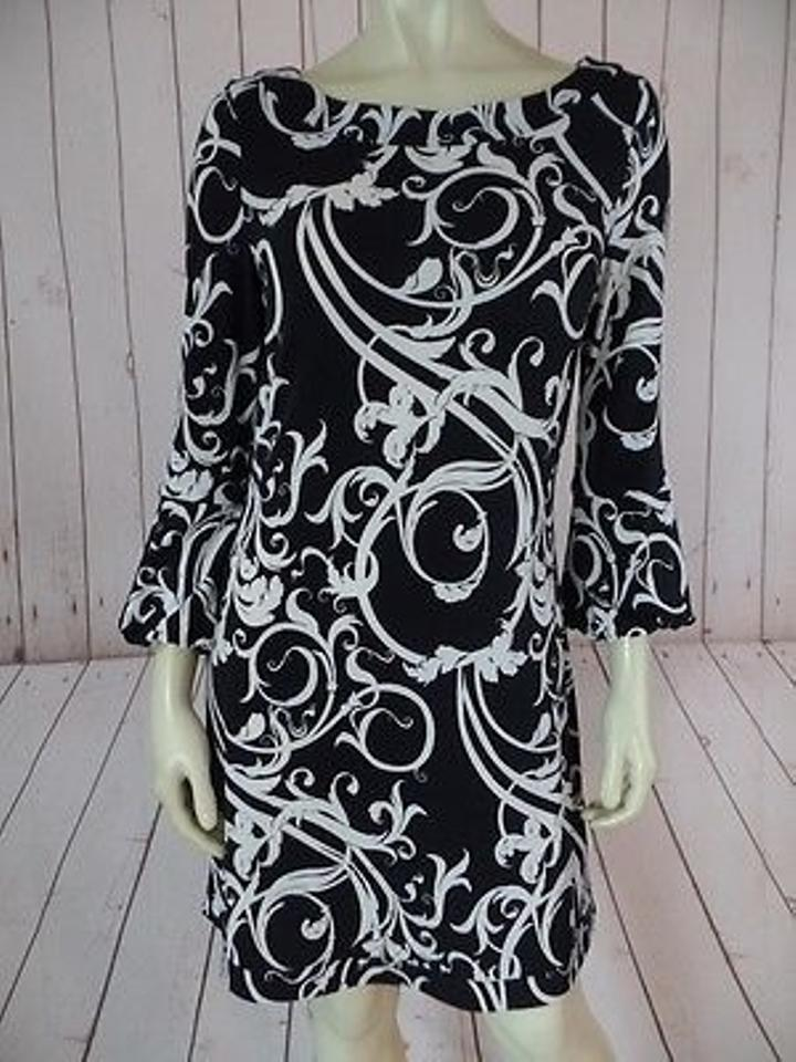 White House Black Market And Polyspandex Stretch Knit Pullover Short Night Out Dress Size 6 S 63 Off Retail